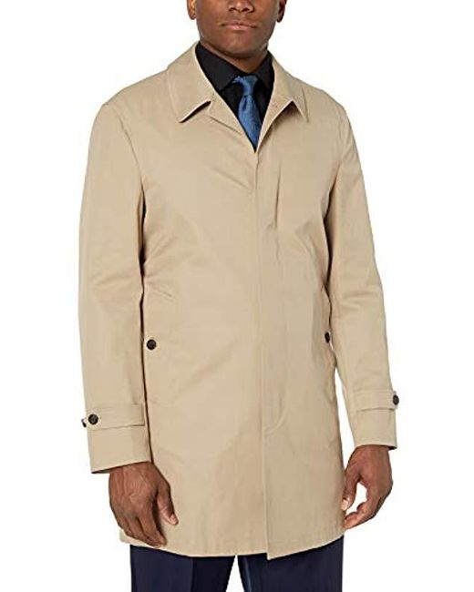Buttoned Down Natural Amazon Brand - Water-repellant Cotton-blend Car Coat for men