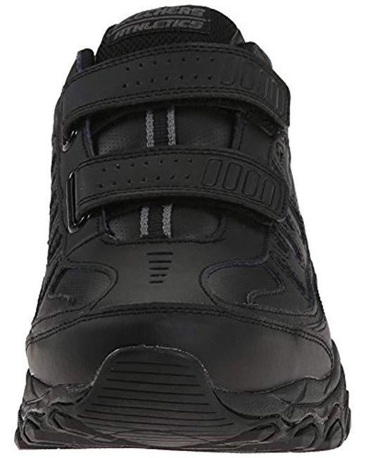 51b3482191c Men's Black Afterburn Strike Memory Foam Velcro Sneaker