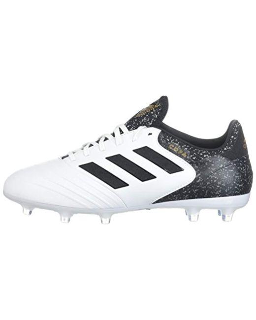 Men's Copa 18.2 Fg Soccer Shoe, White/core Black/tactile Gold, 9.5 M Us