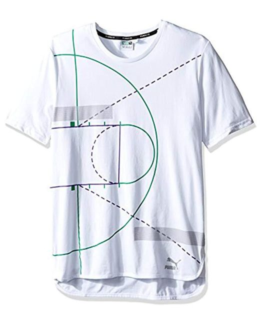 PUMA - White Evo Graphic Longtee for Men - Lyst