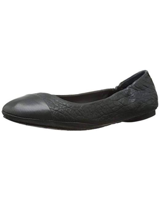 Delman - Black D-maya-sn Ballet Flat - Lyst