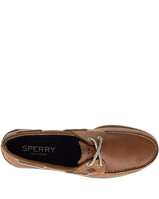 4261e00c959 ... Sperry Top-Sider - Brown Leeward 2-eye Boat Shoe for Men - Lyst ...