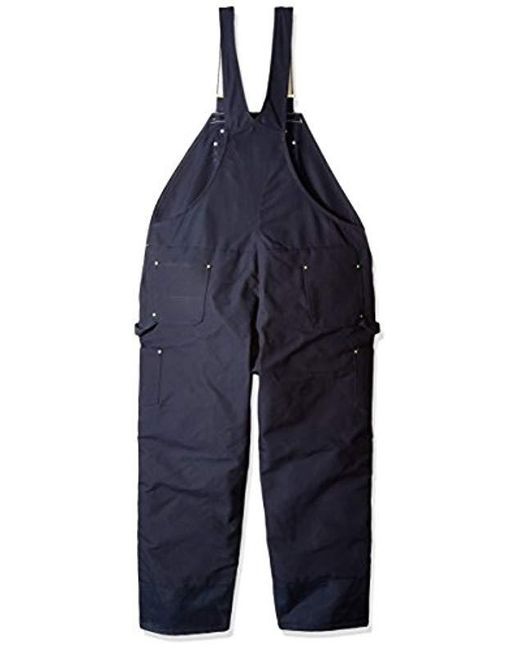 elegant and sturdy package shop for original good service Men's Blue Big & Tall Quilt Lined Zip To Thigh Bib Overall Long Sleeve