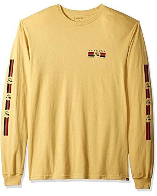Quiksilver Yellow Step Up Step Down Long Sleeve Tee for men