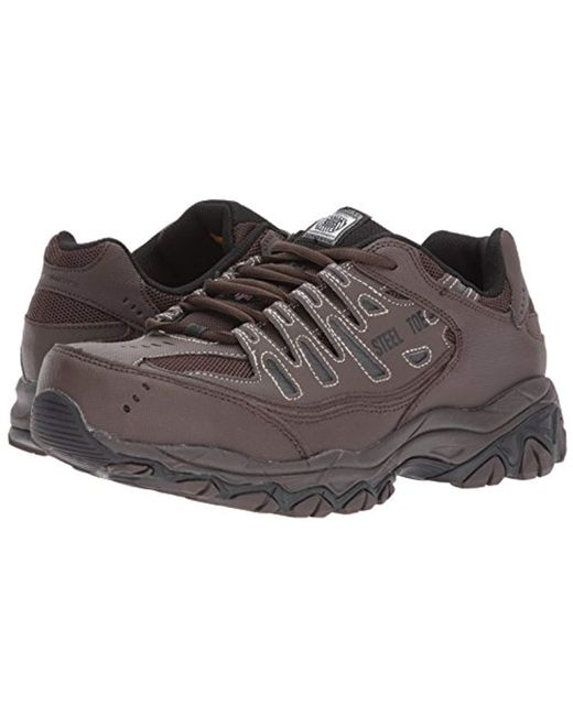 Men's Brown For Work 77055 Cankton Athletic Steel Toe Work Sneaker