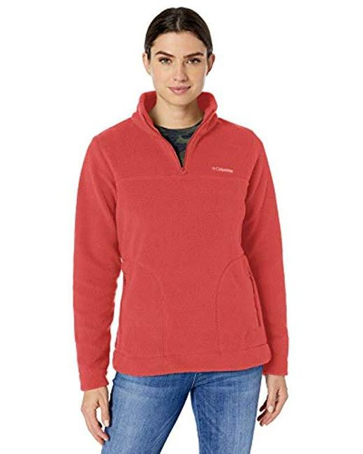 Columbia Red Canyon Point Sherpa Pullover