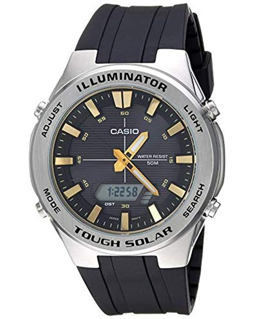 G Shock Tough Solar Stainless Steel Quartz Watch With Polyurethane