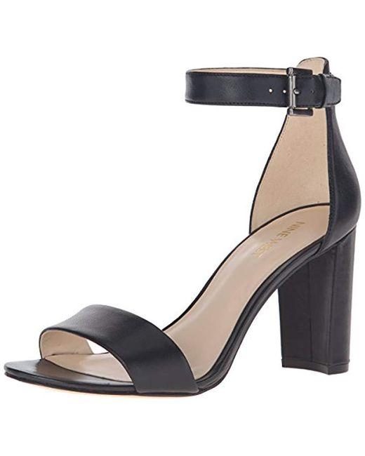 Nine West Black Nora Leather Dress Sandal