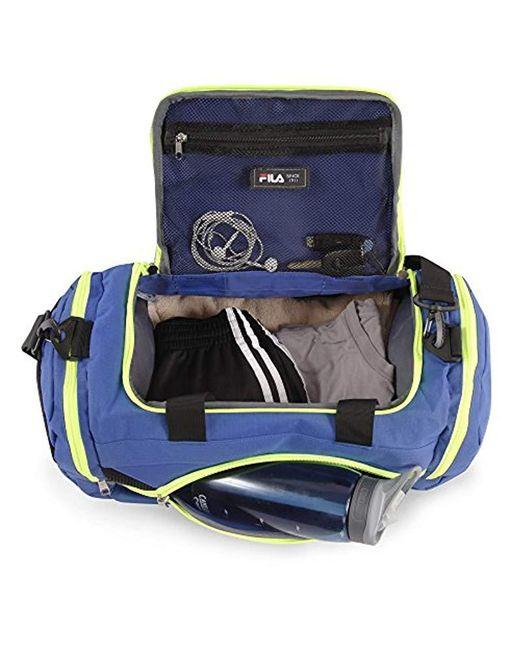 fila sprinter small gym sport duffel bag blue neon amazon luggage ... b2d3b461b6