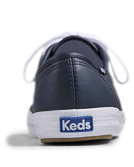 2e1f29589f74c Lyst - Keds Champion Original Leather Sneaker in Blue - Save 6%