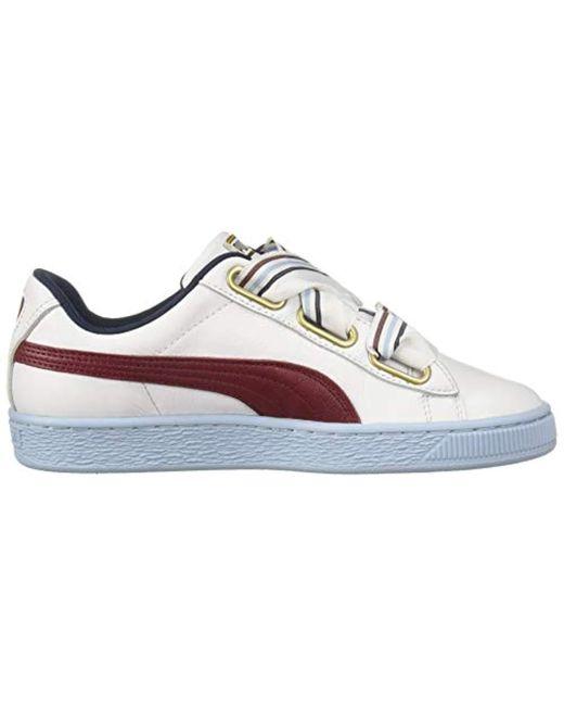 pretty nice 28266 1ec53 Women's White Basket Heart Wn's Sneaker