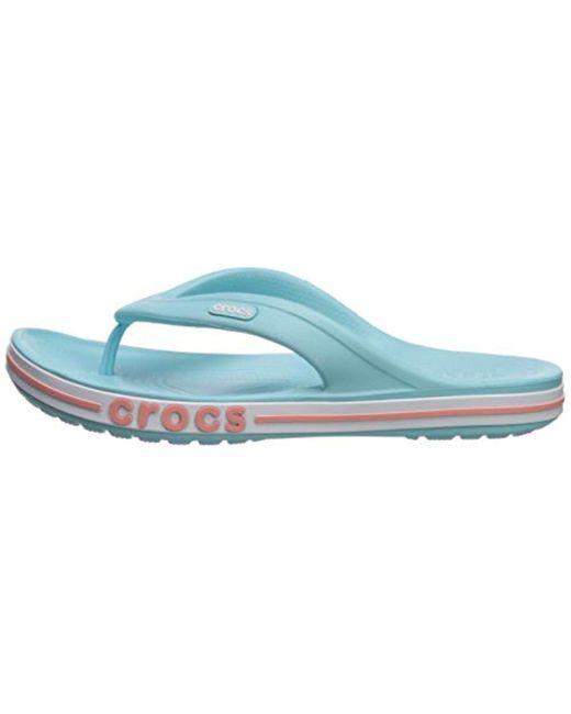 Crocs Bayaband Flip Flop In Blue Save 10 Lyst