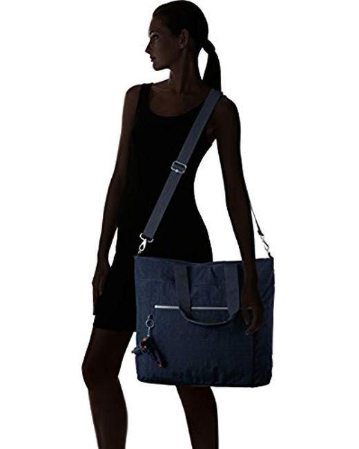 fb508fdabdb Kipling Lizzie Solid Laptop Tote Bag, True Blue in Blue - Save 25 ...