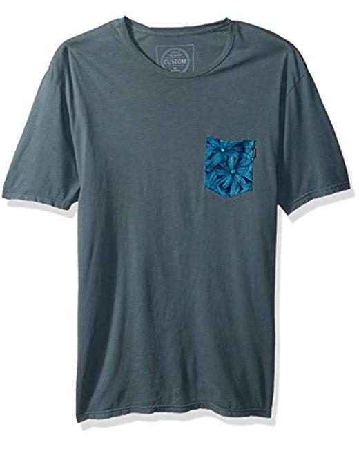 Rip Curl - Blue Staple Custom Pkt Tee for Men - Lyst
