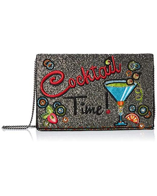Mary Frances Metallic Cocktail Time Beaded And Embroidered Crossbody Clutch