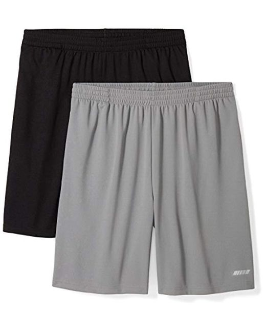 67133c130 Amazon Essentials - Gray  s 2-pack Loose-fit Performance Shorts for Men ...