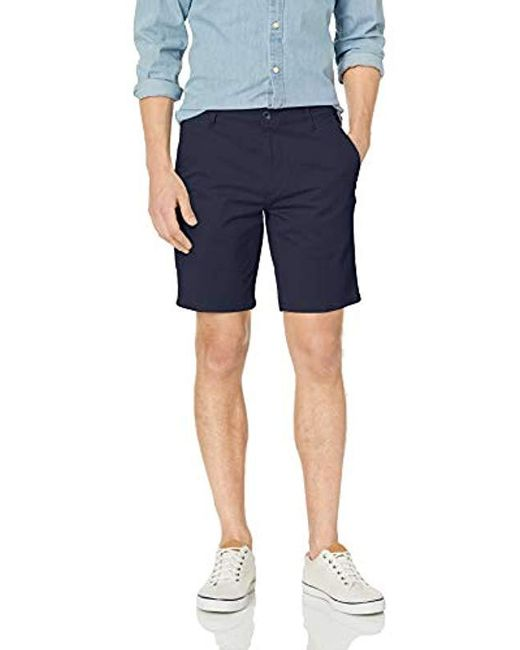 Dockers Blue Straight Fit Original Khaki Short for men
