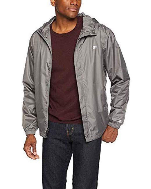 Starter Gray Waterproof Breathable Jacket, Amazon Exclusive for men