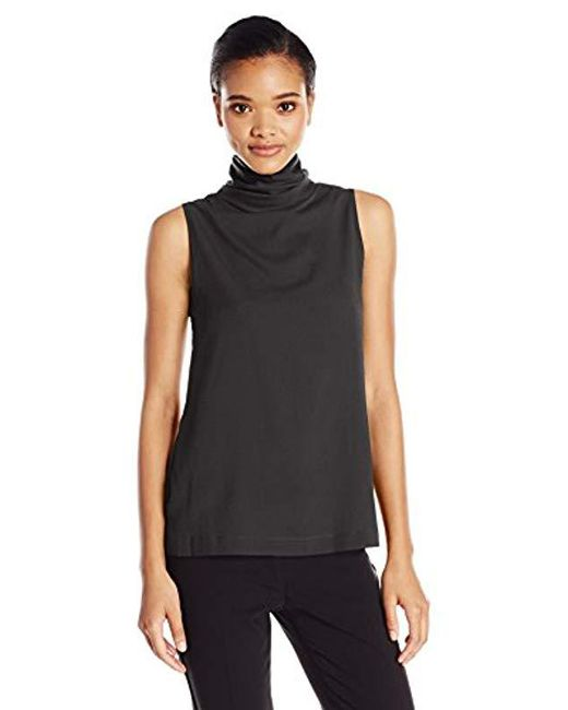 French Connection - Black Polly Plains T Neck - Lyst