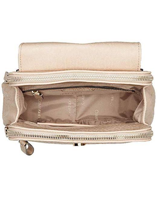 0ef9451d0cde ... Calvin Klein - Black Elaine Bubble Lamb Novelty Key Item Flap Backpack  - Lyst ...