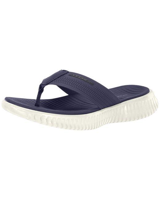 Skechers ELITE FLEX COASTAL MIST Mens Summer Beach Sandals Flip Flops Black