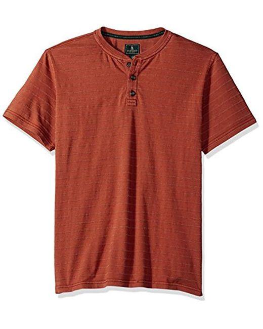 G.H.BASS - Jack Mountain Textured Jersey Short Sleeve Henley for Men - Lyst