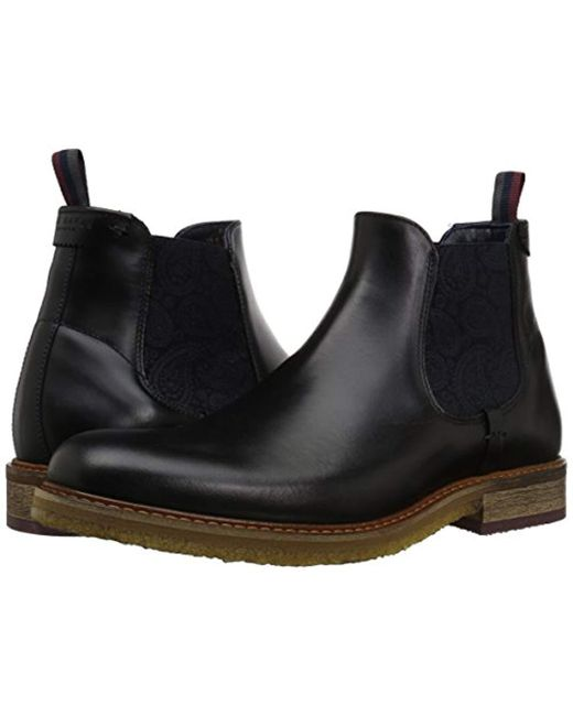 f153b3923716 ... Ted Baker - Black Bronzo Chelsea Boot for Men - Lyst ...