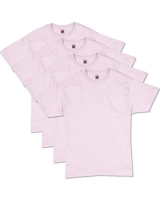 Hanes - Pink Comfortsoft Short Sleeve T-shirt for Men - Lyst