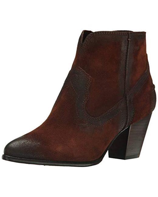 Frye - Brown Renee Seam Short Boot - Lyst