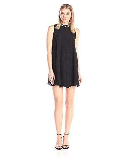 BCBGeneration - Black Jewel Collar Dress - Lyst