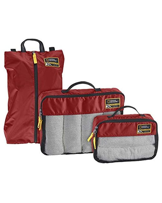 Eagle Creek Red National Geographic Adventure Essential Packing Set