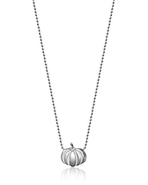 "Alex Woo - Metallic Little Seasons Pumpkin Pendant Necklace, 16"" - Lyst"