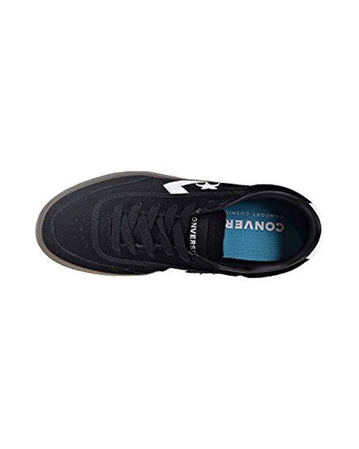 019edbc205b1 ... Converse - Black Courtlandt Suede Leather Accent Low Top Sneaker for Men  - Lyst ...