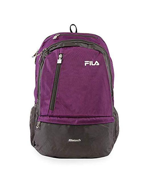 Fila Purple Duel School Laptop Computer Tablet Book Bag Backpack for men