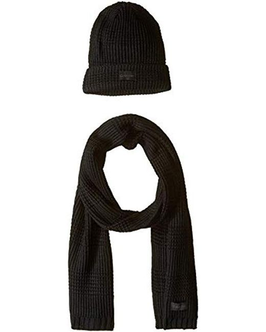 Calvin Klein - Black Hat And Scarf Set for Men - Lyst ... cccb577e5f3