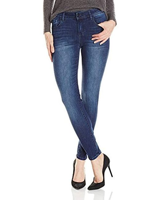 Kensie Blue Stretch Ankle Biter Jeans