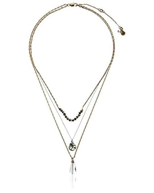 Kenneth Cole - Multicolor Delicates Disc And Faceted Bead Three Row Necklace, 16''+3'' Extender - Lyst