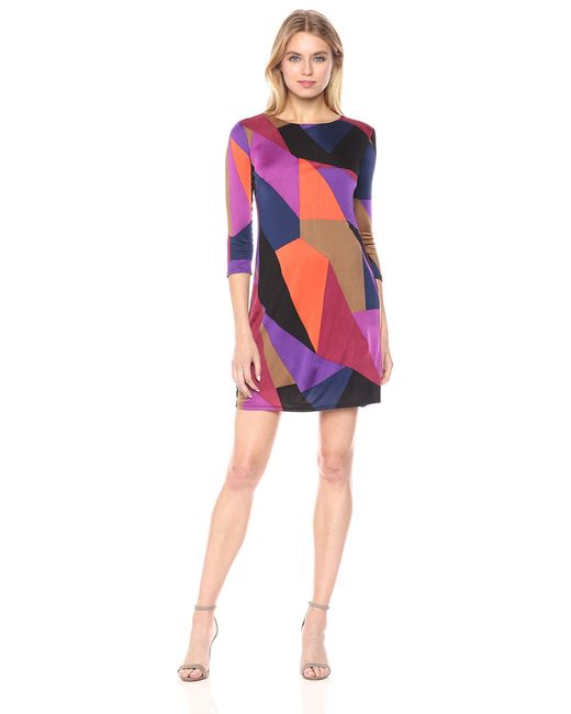 Trina Turk Womens Lianet Must Have Jersey Cold Shoulder Dress