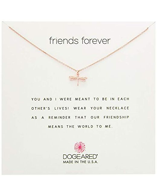 Dogeared - Metallic S Friends Forever, Dragonfly Necklace - Lyst