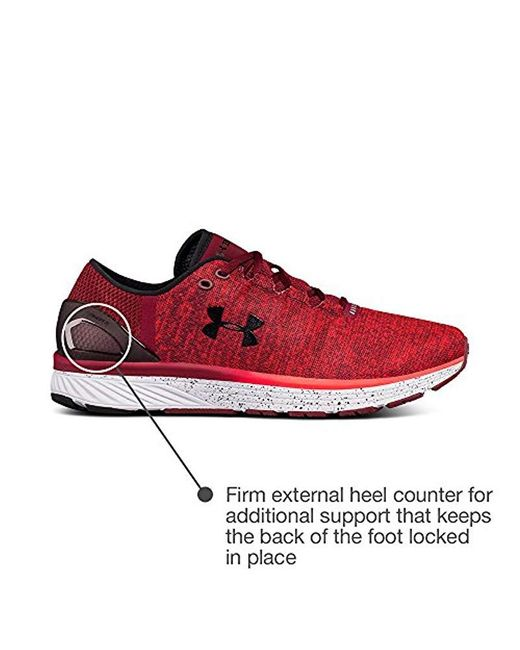 afcf02952e995 Men's Red Ua Charged Bandit 3 1295725-602 Training Shoes