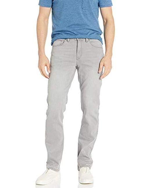 Perry Ellis Gray Slim Fit Stretch Light Grey 5 Pocket Pantâ for men