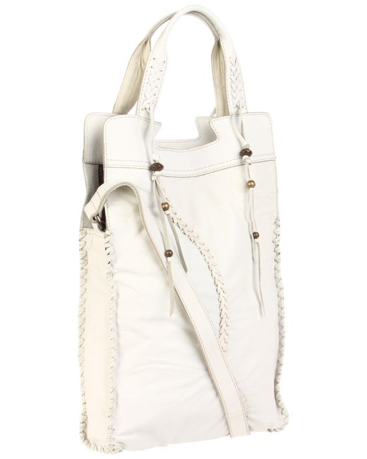 Lucky Brand Laced Fringe Abbey Road-white
