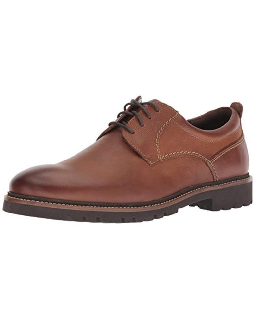 Rockport Brown Marshall Plain Toe Oxford for men