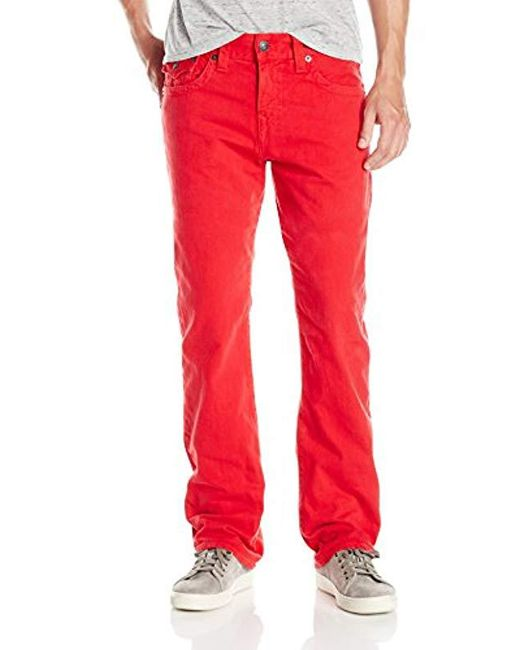 49df220af True Religion - Red Ricky Relaxed Straight With Flaps for Men - Lyst ...