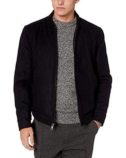 Marc New York - Blue Barlow Melton Wool Bomber Jacket for Men - Lyst