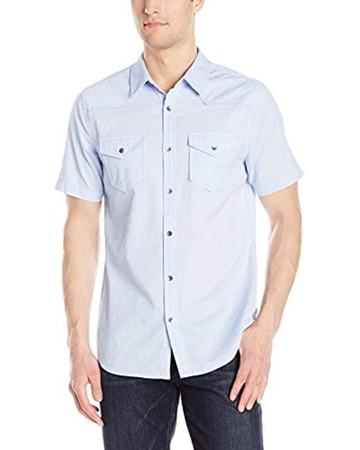 Guess - Blue Melange Check Shirt for Men - Lyst