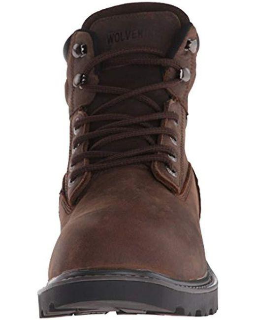 c0168e61aed Wolverine Floorhand 6 Inch Waterproof Soft Toe Work Shoe in Brown ...