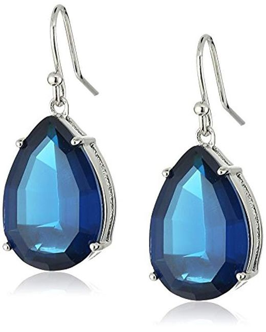 T Tahari - Metallic Med Mint Tear Fh Drop Earrings - Lyst