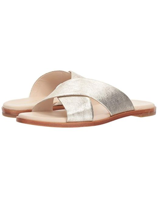 3571a7e94aeb Lyst - Cole Haan Anica Criss Cross Sandal in Metallic - Save 57%