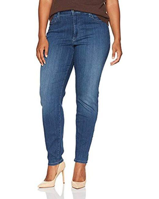 b738fde09b7 NYDJ - Blue Ami Skinny Jeans In Sure Stretch Denim - Lyst ...
